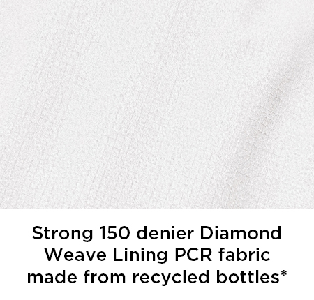 Strong 150 denier Diamond Weave Lining PCR fabric made from recycled bottles*