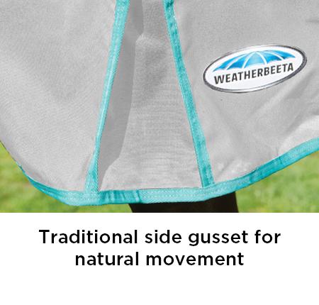 Traditional side gusset for natural movement