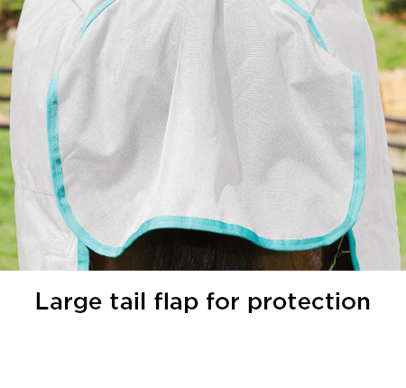 Large tail flap for protection