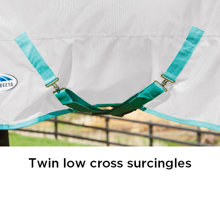 Twin low cross surcingles