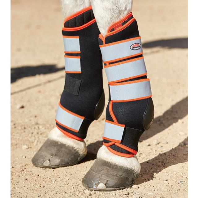 WeatherBeeta Therapy-Tec Stable Boot Wraps Black/Silver/Red