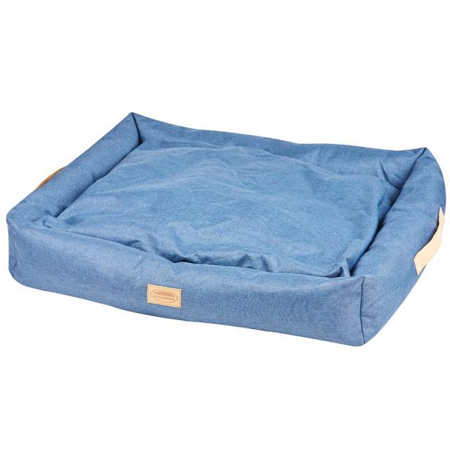 WeatherBeeta Square Denim Dog Bed Blue