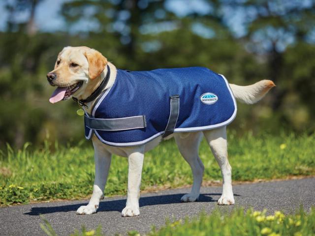 WeatherBeeta ComFiTec Parka 1200D Dog Coat Navy/Grey/White