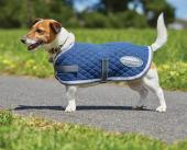 WeatherBeeta Quilted Dog Coat Navy/Grey/White