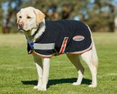WeatherBeeta Therapy-Tec Fleece Dog Coat Black/Silver/Red