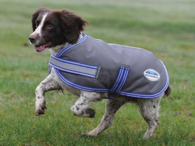 WeatherBeeta ComFiTec Thermi-Heat Dog Coat Grey/Blue