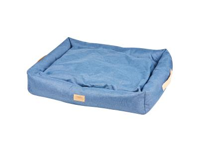 WeatherBeeta Square Denim Dog Bed Blue