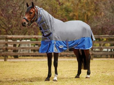 WeatherBeeta ComFiTec Premier Free Mane Shield Combo Medium Grey/Blue