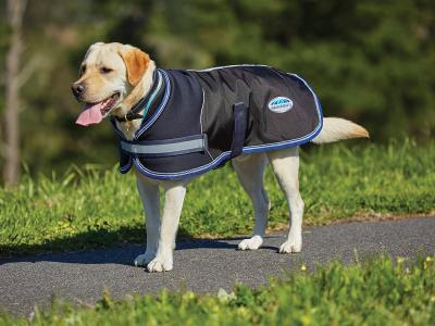 WeatherBeeta ComFiTec Parka 1680D Dog Coat Charcoal/Blue/White
