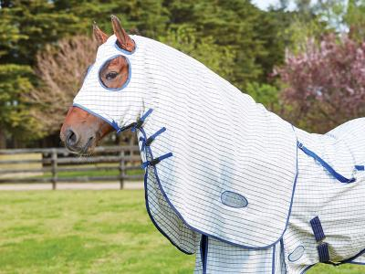 WeatherBeeta Summer Sheet Hood White/Grey/Blue