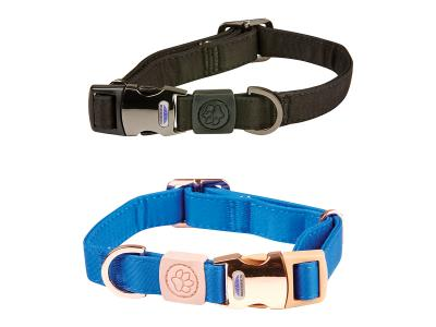 WeatherBeeta Elegance Dog Collar Black & Blue
