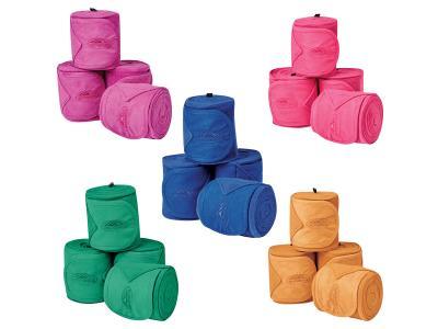 WeatherBeeta Fleece Bandage 4 Pack Amethyst, Calcite, Emerald, Sodalite & Topaz