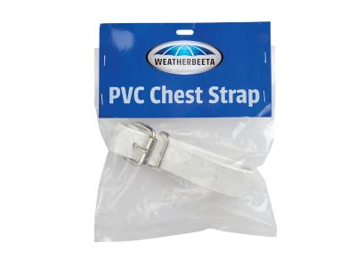 WeatherBeeta PVC Chest Strap White