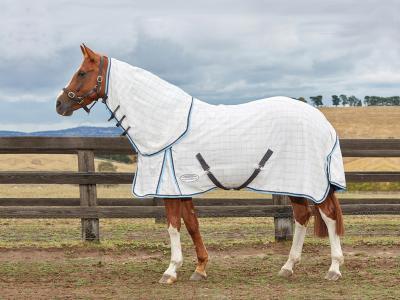 WeatherBeeta Summer Sheet Cotton Combo Grey/Light Blue