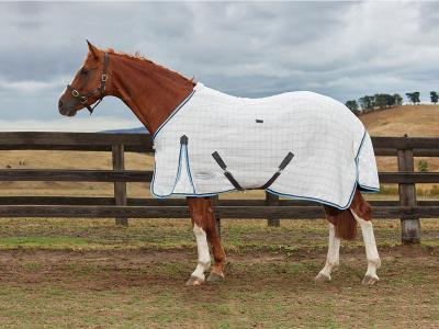 WeatherBeeta Summer Sheet Cotton Standard Neck Grey/Light Blue