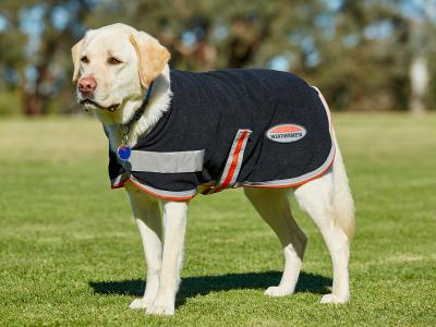 WeatherBeeta Therapy-Tec Fleece Dog Coat Black/Silver/Red